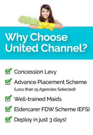 There are many reasons to choose United Channel maid agency