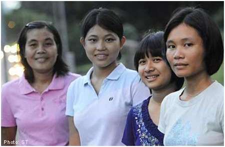 Some Singapore maids for deployment