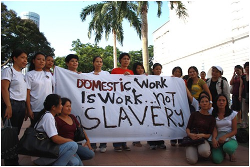 What are the duties of domestic helpers?